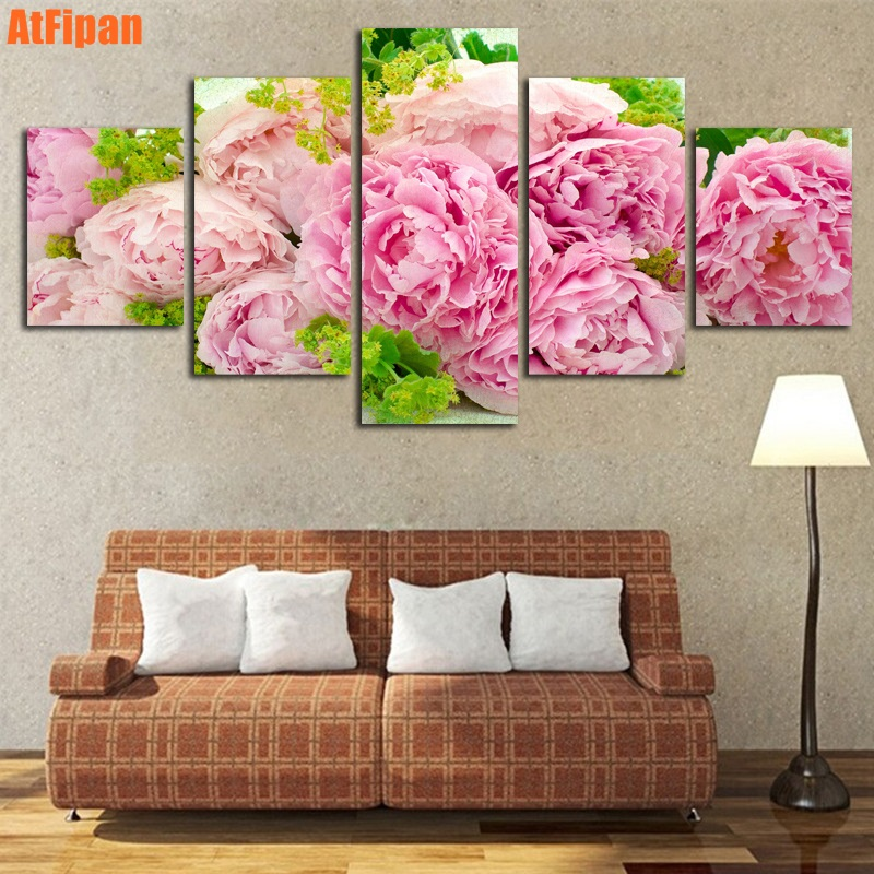 Beautiful Pink Hibiscus Not Framed Painting Modern Poster HD ...