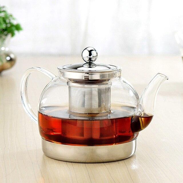 1200 ML Hitzebeständigem Glas Wasserkocher Heizung kaffee topf Große ...