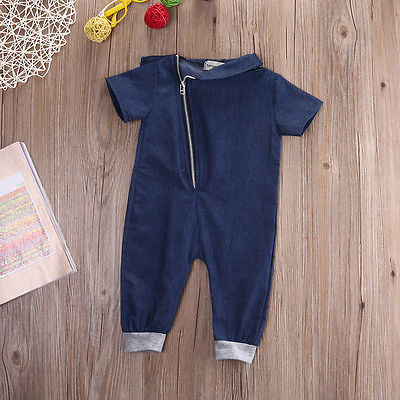 Are-2017-baby-girls-and-Boys-Denim-super-cool-fan-Leotard-Child-shorts-baby-baby-romper-Jumpsuit-dress-children-0-3y-3