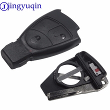 Jingyuqin с Батарея держатель 3 кнопки дистанционного брелок чехол для Mercedes Benz B C E ML S CLK CL 3B 3BT Smart Key
