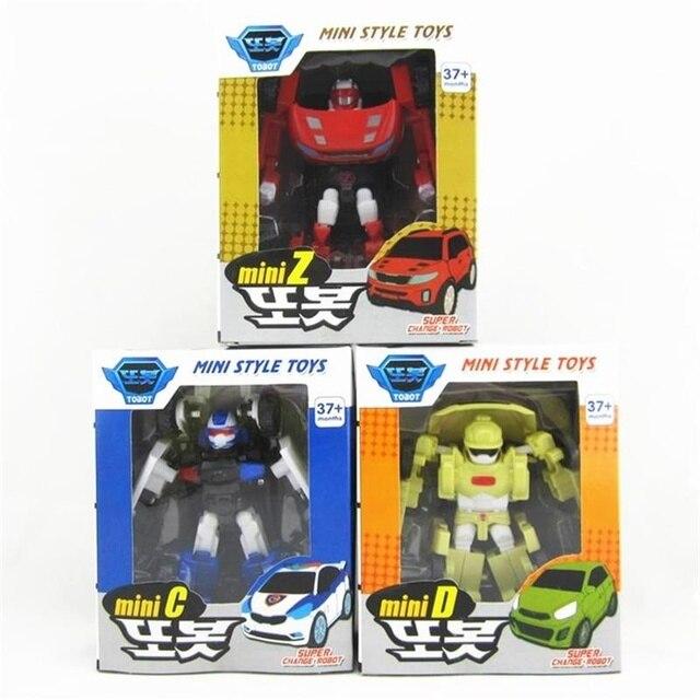 3pcs Set Young Toys Korea Cartoon Light Music Robot Tobot Brothers