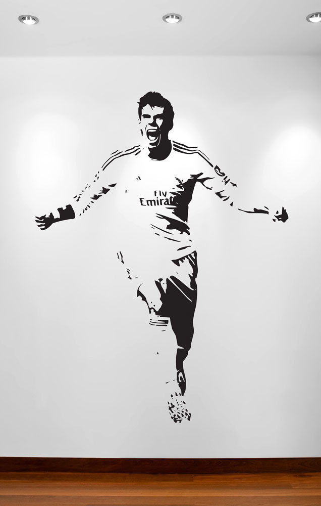 GARETH BALE FOOTBALLER SPORT STAR POSTER WALL POP ART STICKER REMOVABLE VINYL TRANSFER DECAL ROOM 111x85cm/43.7X33.46