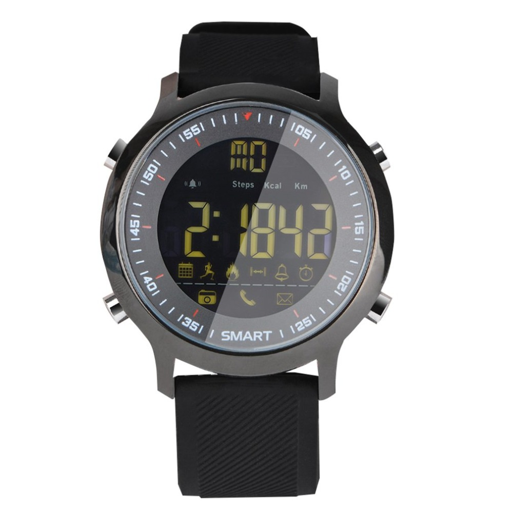 EX18 IP67 Waterproof Smart Watch Sports Tracker Calories Pedometer Wristwatch Smartwatch Support Call and SMS alert drop ship
