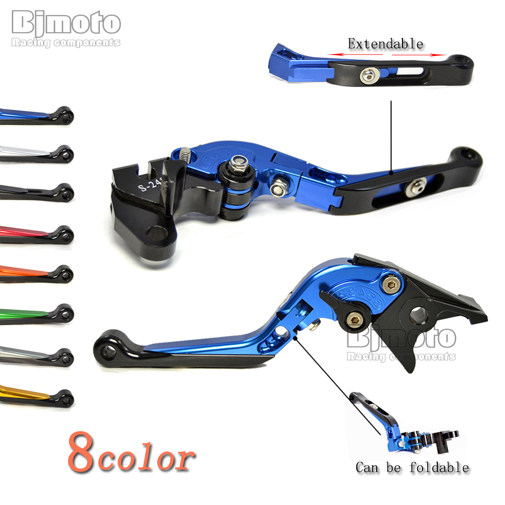 BJMOTO Motorcycle Brake Clutch Lever Adjustable Extendable Foldable Levers For Suzuki SV650 2016-2017