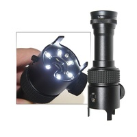 Pocket 50X LED Illuminated Microscope Magnifying Glass Metal Magnifier for Identification