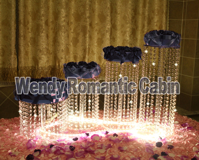 4PCS/Lot Party Crystal Cake Stand Wedding decoration Bling Wedding ...