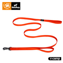 Mypet 180cm 2 Handles Outdoor Safe Fluorescence Dog Leash Rust-proof Metal Leash For Dog Collar Lead VC15-LH003