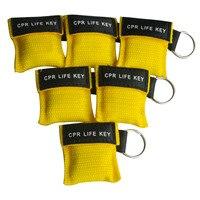 500 шт./лот маска для искусственного дыхания при реанимации CPR жизнь Ключ Аварийный уход за кожей лица щит свободное дыхание барьер с одностор
