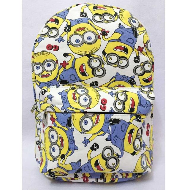 a3d9b9f896a8 2019 Despicable Me Minion Cute Canvas Cartoon Adult Backpack School Bag  Free Shipping