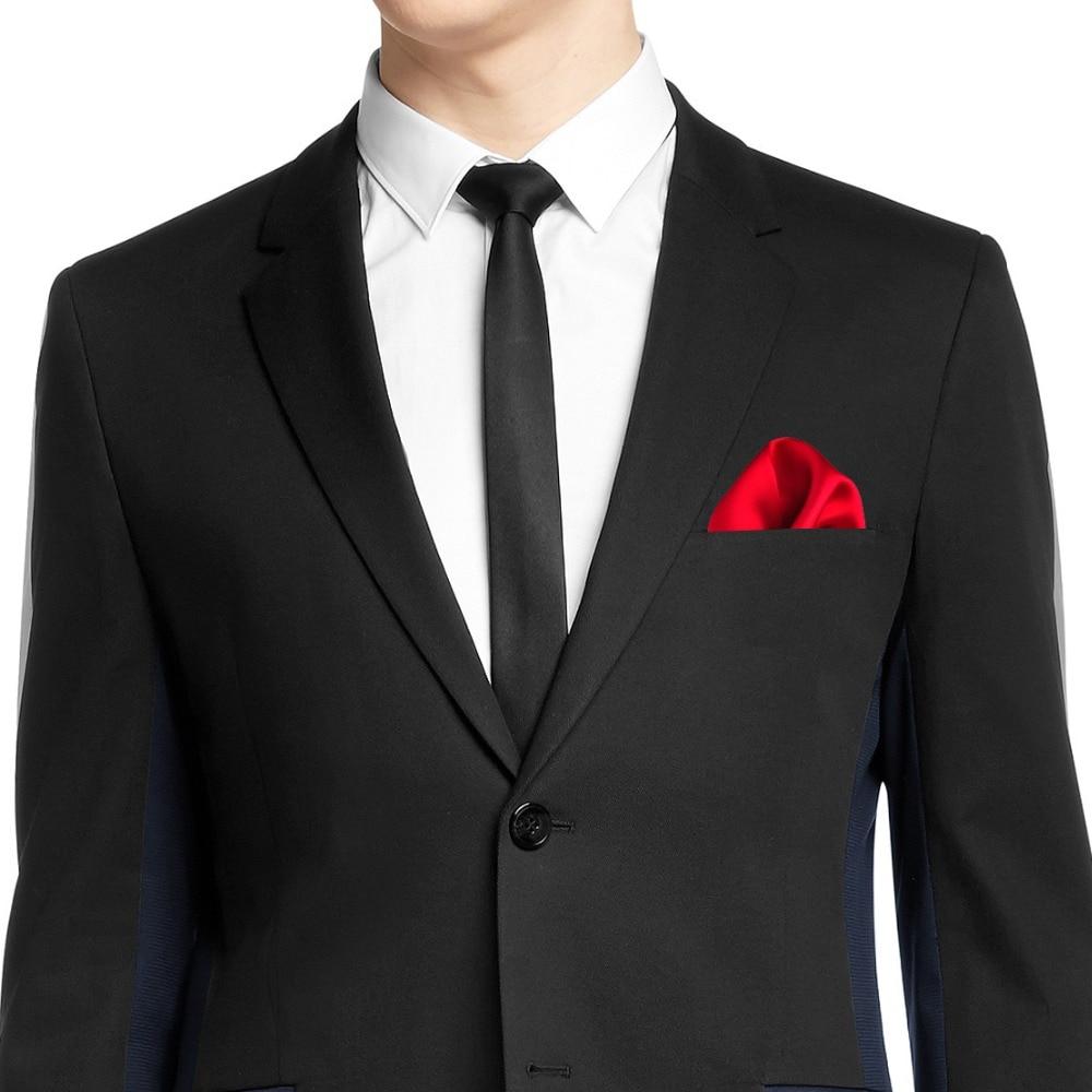 ciciTree 100% Natural Silk Men Pocket Square Men's 35cm Plain Solid - Apparel Accessories - Photo 6