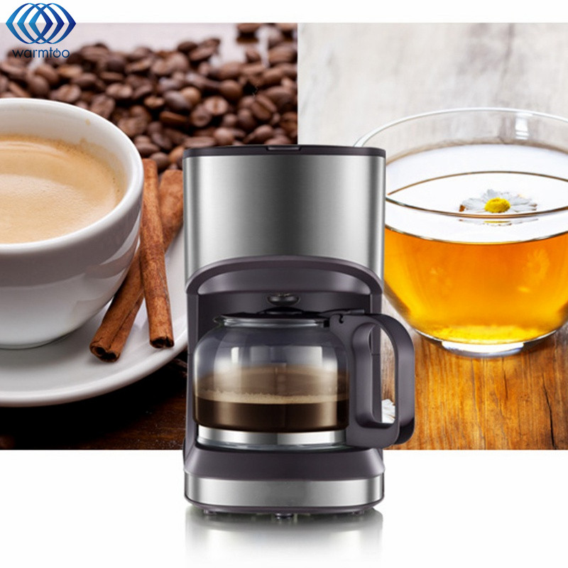 Coffee Maker Machine Stainless Steel Home Fully Automatic Drip Type Mini Coffee Making Professional Cappuccino Latte 220V 550W coffee machine home american style drip type fully automatic small mini coffee pot