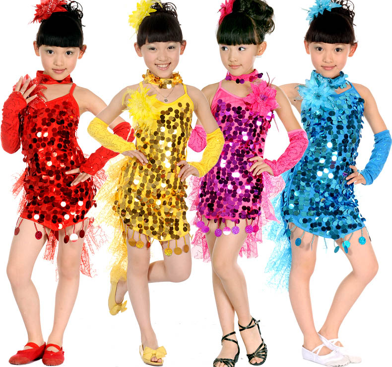 Children's costumes Children's Latin dance clothing modern new girls Latin dance costume dance dress  princess pegasus girls sexy latin dance dress fashion female dance dress1448 new clothes and costumes
