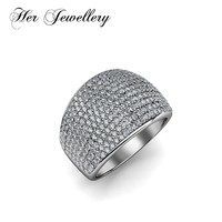 Her Jewellery Stainless Steel rings luxury and charm rings Made with Crystals from Swarovski HR0325