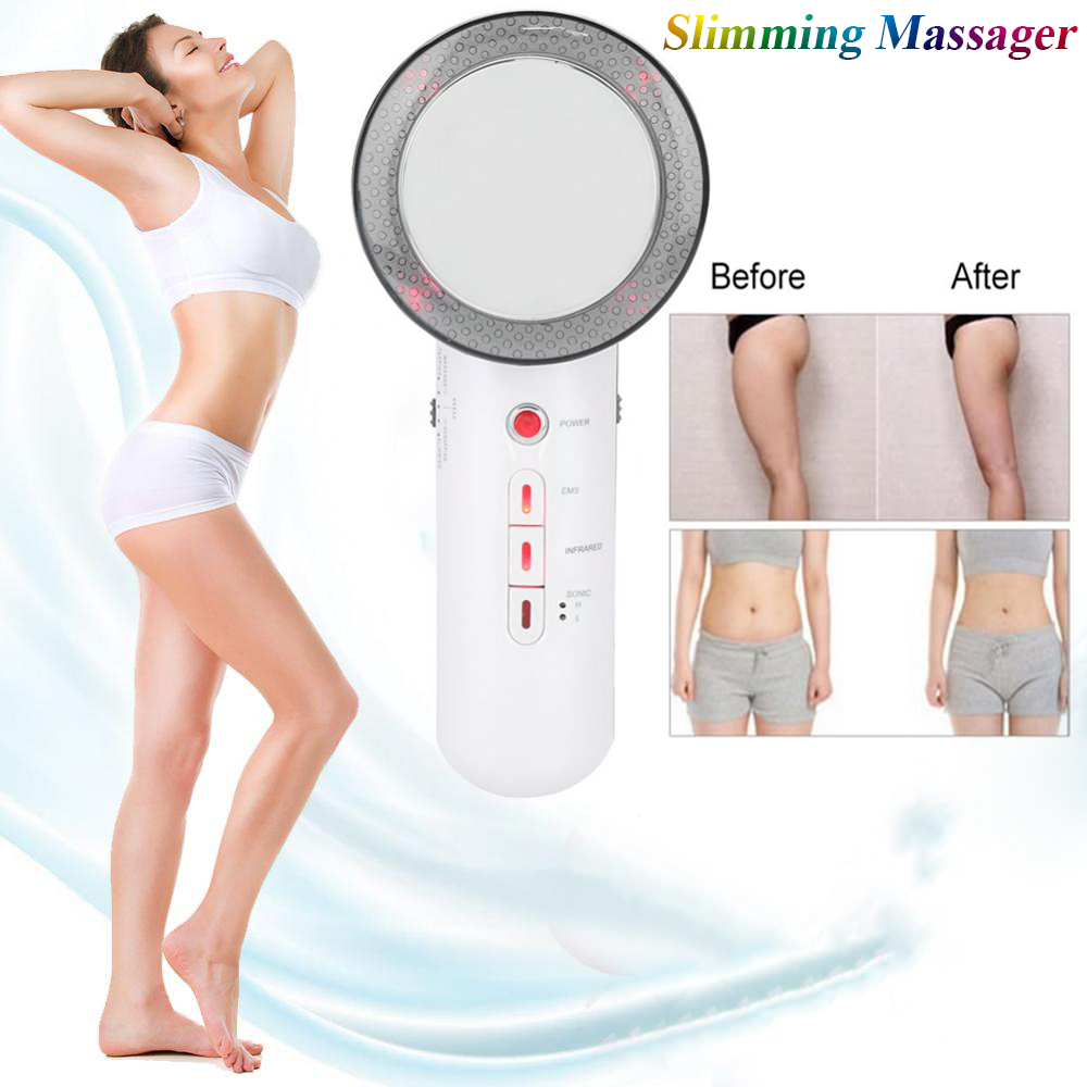 Ultrasound EMS Infrared Body Slimming Massager Weight Loss Anti Cellulite Ultrasonic Therapy Fat Burn Body Weight Lose Machine 5pcs lot dhl free shipping electric 3in1 ultrasound infrared ems weight loss anti cellulite body slimming shaping massager