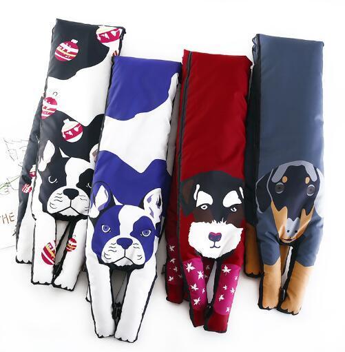 Большой размеры 15 x112cm шелк теплые накидки Дизайнер 3D Животные форма кошка тигр пышные теплый шарф для женщин шарф ребенок шарфы