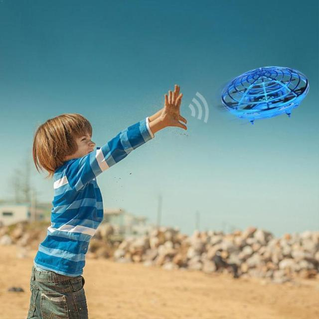 Flying Toys Anti collision Hand UFO Ball Flying Aircraft RC Toys Led Gift Suspension Mini Induction