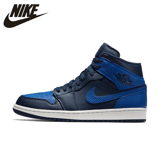 on sale bae22 676a8 NIKE Air Jordan 1 Mid AJ1 Mens Basketball Shoes Breathable Footwear Super  Light Support Sports Sneakers For Men Shoes 554724-412