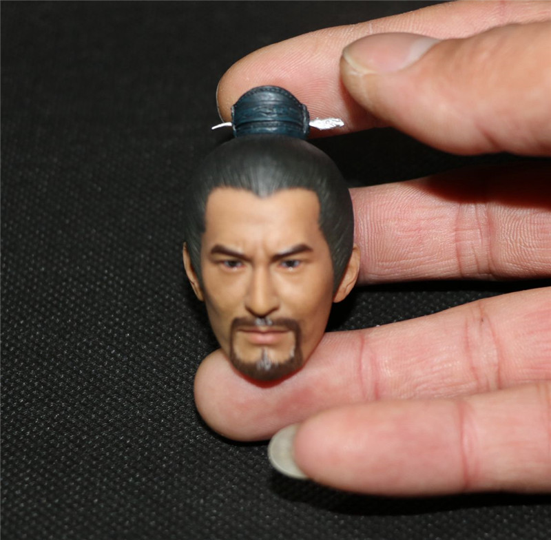 Mnotht Head Sculpt 1/6 Scale Yue Fei Headplay Huang Xiao Ming Head Sculpt For 12in Action Figures L30 1 6 scale the game of death bruce lee head sculpt and kungfu clothes for 12 inches figures bodies