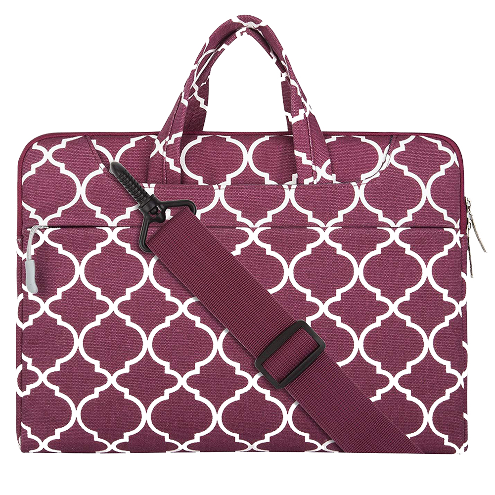 Men Women Rectangle Laptop Briefcase Business Handbags Travel Geometric Pattern Gift Shoulder Bag Storage Cover Carrying Canvas