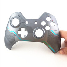 For XBOX ONE controller Gamepad Original Silver Halo 5 Top Shell cover Skin housing case Upper Faceplate Replacement Repair Part