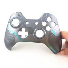 Xbox oneコントローラゲームパッドオリジナルシルバーハロー5トップシェルカバー住宅ケースアッパーフェイスプレートの交換修理部品