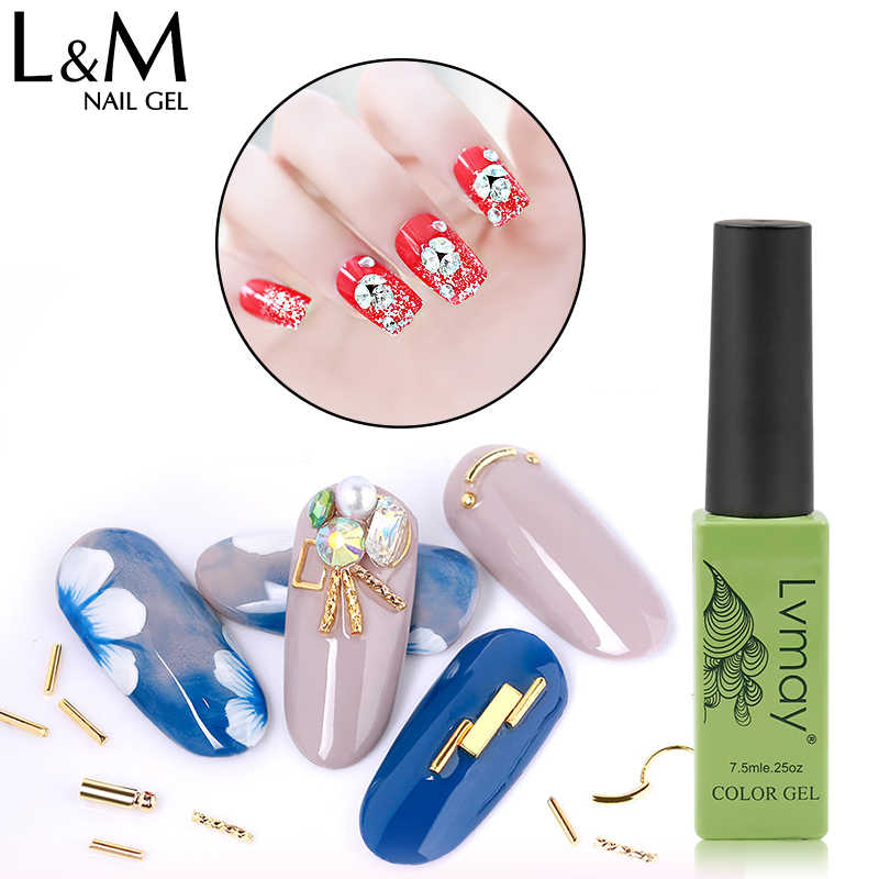 Lvmay 7.3 ml 3D Kristal Berlian Super Lengket Lem Kuku Art UV Gel Lampu Berlian Lengket Gel Polish Berlian Imitasi Lem Gel