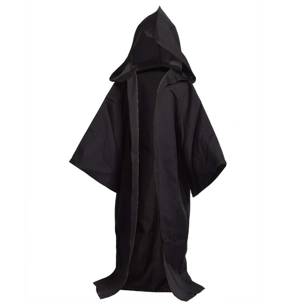 Kids Boys Halloween Hooded Cape Vintage Medieval Robe Cloak Fancy Cool Party Cosplay Costume