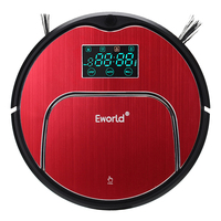 Eworld M883 Robot Vacuum Cleaner Household Vacuum Cleaner With Remote Controller,Cleaning Brush And 13 Sets Senser
