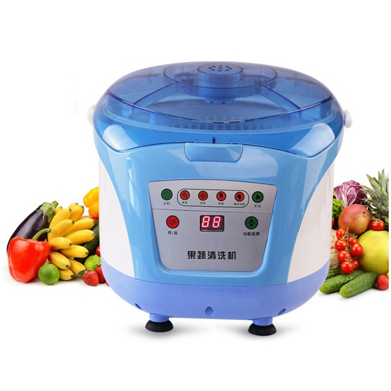 HIMOSKWA 8L Household Ozone Generator Electronic Fruit Vegetable Washer Tableware Disinfection Machine Food Detoxification 220V himoskwa household ozone generator fruit vegetable food detoxification washer tableware disinfectant cleaning machine 220v