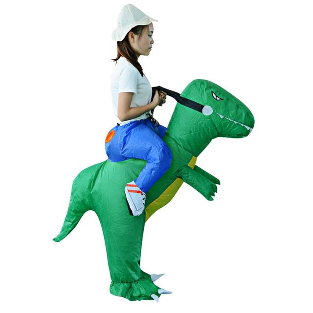 Jampelle Dinosaur Inflatable Costumes Carnival Women Men Funny Party Animal Cosplay