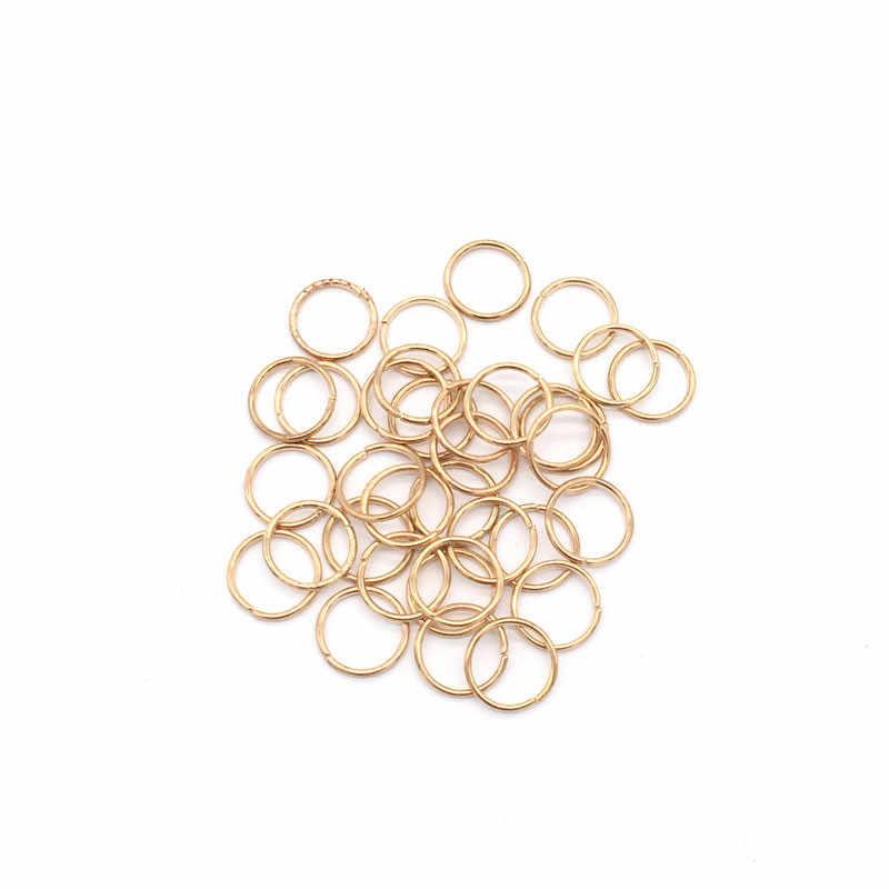 20 יח'\חבילה זהב/כסף שיער צמת Dreadlock חרוז קאף קליפ צמת חישוק מעגל כ 14mm הפנימי חור