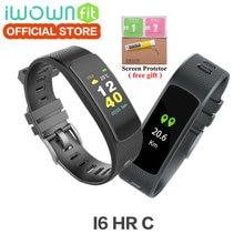 I6 IWOWNfit HR C Smartband IWOWN Tela Colorida de Freqüência Cardíaca Monitor de Esporte Pulseira Banda Inteligente Rastreador De Fitness VS pulseira Mi Band3