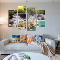 FOUR PC NO FRAME Green Water Oil Painting Printed Oil Painting On Canvas Oil Painting Home