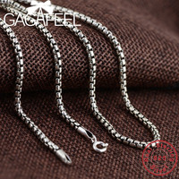 GAGAFEEL 100% Pure 925 Sterling Silver Chains Necklaces for Men Women New Fashion Jewelries Christmas Gift