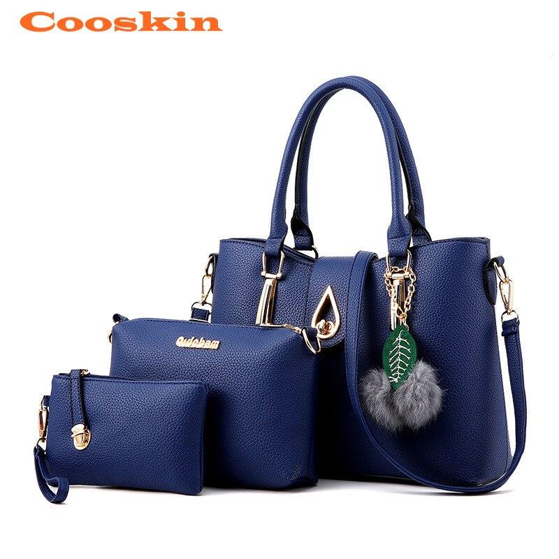 b703df9655cc ... Set Composite Bag PU Leather Shoulder Bag Women Leather Handbags Female  Crossbody Bag. -24%. Click to enlarge