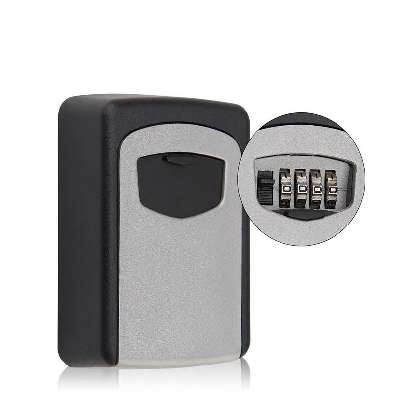 4-Digit Code Password Combination Lock Wall Mounted Key Safe Storage Lock Box Safes 4-Digit Code Password Combination Lock Wall Mounted Key Safe Storage Lock Box Safes