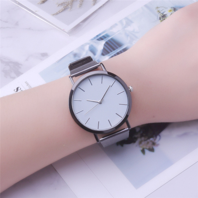 Dress Watch Bracelet Quartz Stainless-Steel Women Gifts Elegant Fashion Crystal Sport