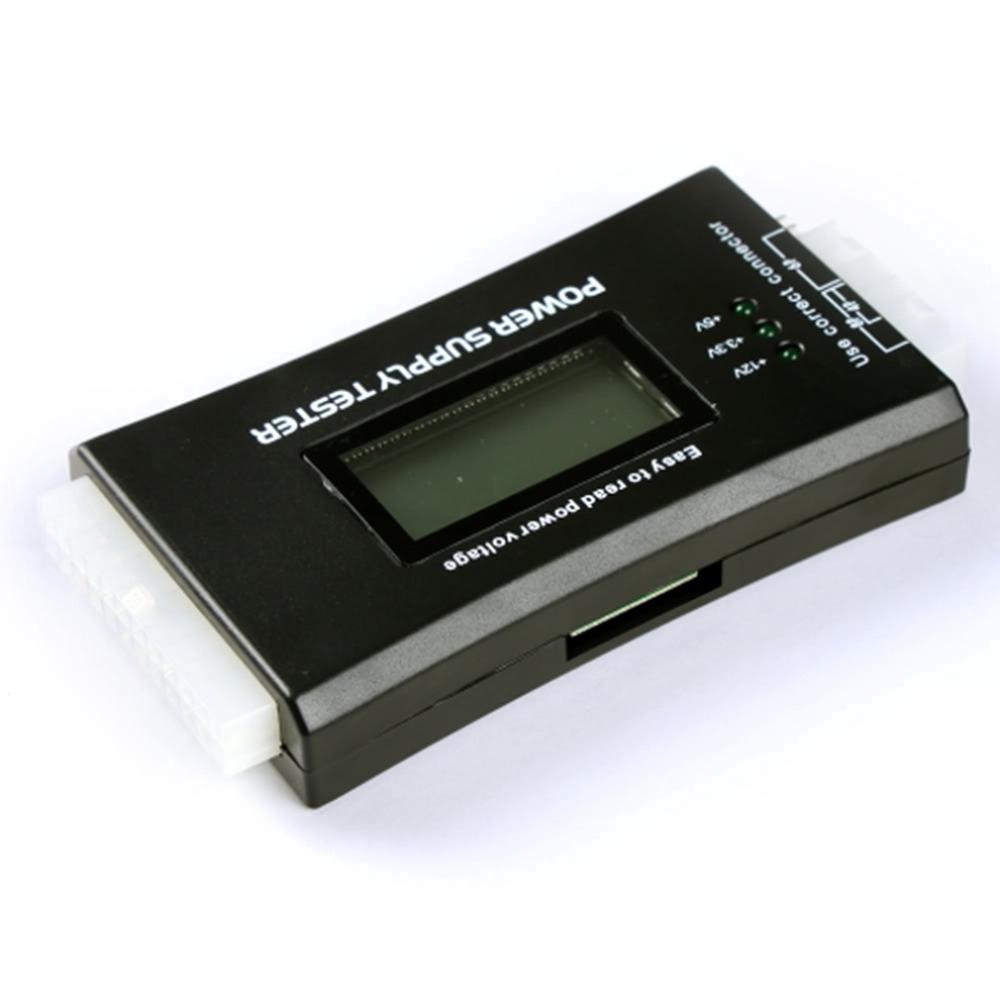 Computer PC Power Supply Tester Checker 20/24 pin SATA HDD ATX BTX Meter LCD стоимость