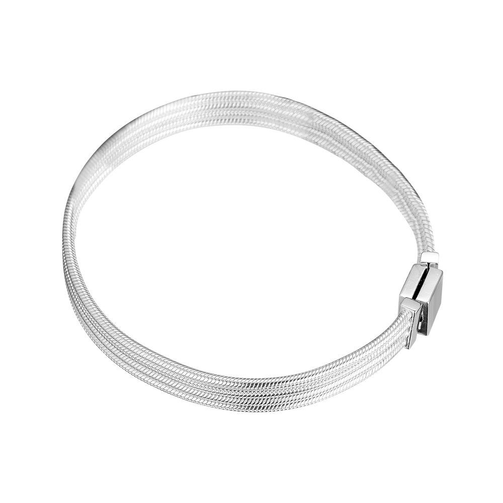 Bracelets de chaîne de serpent Multi réflexions 100% bijoux en argent Sterling 925 livraison gratuite