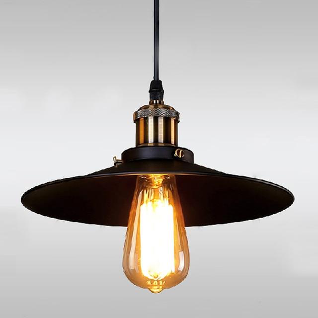 Retro Suspension Luminaire Vintage Pendant Light Metal Lampshade Hanging Lamp Antique Bar Fixture Re Edison