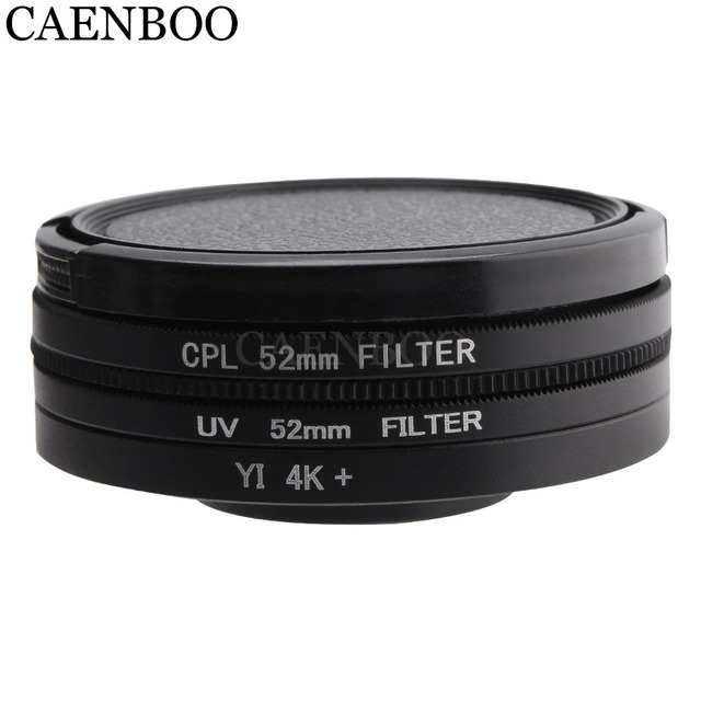CAENBOO Lens Filters For XiaoMi Yi 4K+Plus Circular CPL UV C PL Sport Action Camera Protector For Xiaomi Yi 4K Lite Accessories