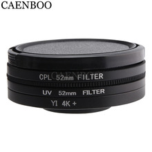 CAENBOO Lens Filters Voor XiaoMi Yi 4 K + Plus Circulaire CPL UV C PL Sport Action Camera Protector Voor Xiaomi yi 4 K Lite Accessoires