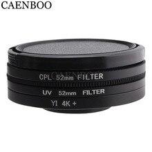 CAENBOO Lens Filtreler Için XiaoMi Yi 4 K + Artı Dairesel CPL UV C PL Spor Eylem Kamera Koruyucu Için Xiaomi yi 4 K Lite Aksesuarları