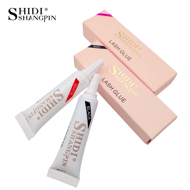 LANJINGLIN eyelash glue 1 pcs false eyelashes glues makeup tool eye lashes extension black white 9cm primer for eyelash