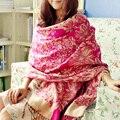 2015 novo de alta qualidade das senhoras lenço 190*70 cm de comprimento multicolor nacional jacquard suave xale de franjas frete grátis