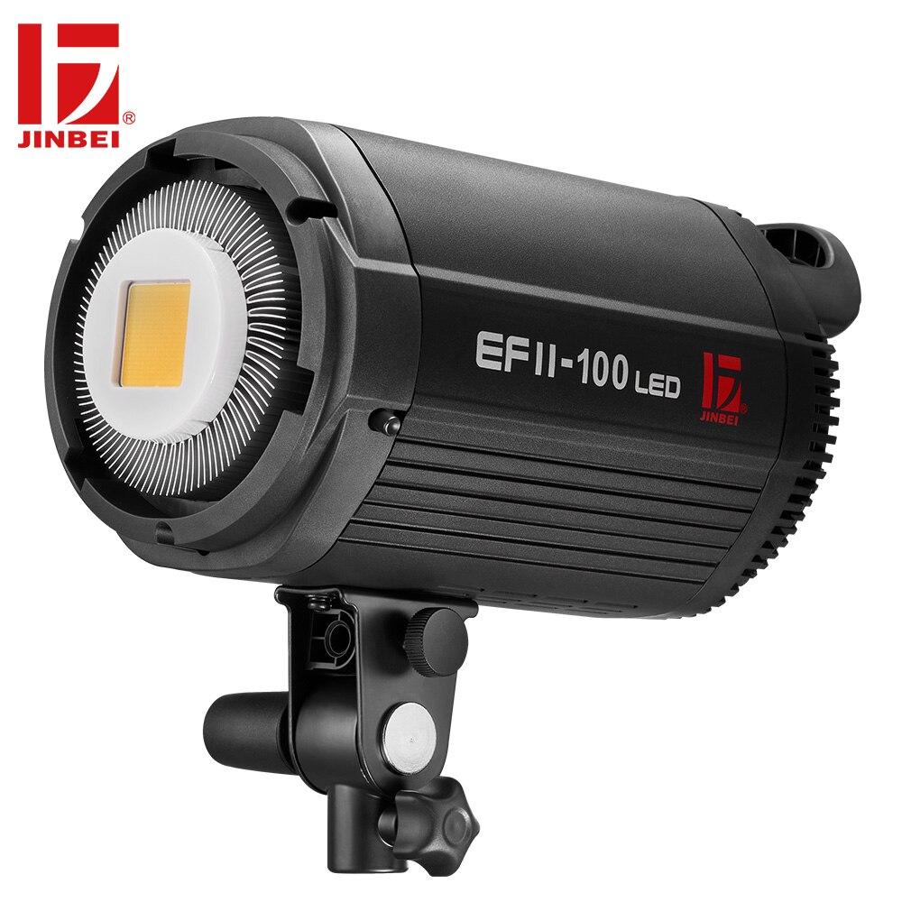 JINBEI EF II-100 100Ws светодиодный LED видео запись свет 5500 к непрерывной выход студия фотографии лампы Bowens крепление бесплатная доставка