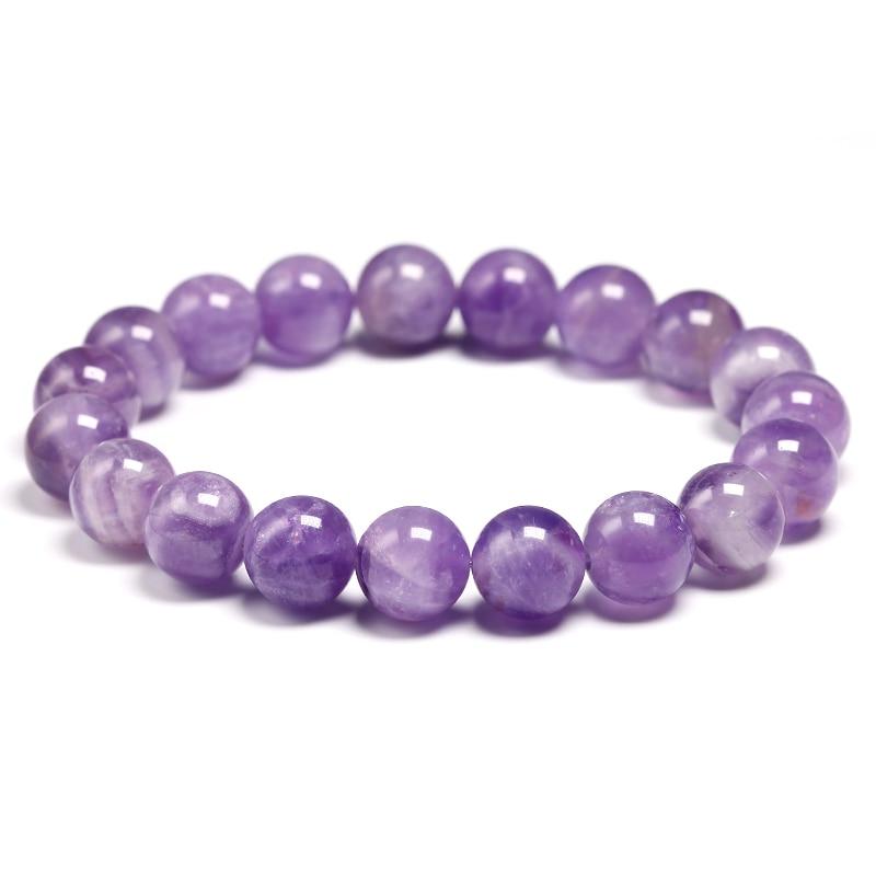 HTB1JfB0VjDpK1RjSZFrq6y78VXaA Natural Dream Amethysts Quartz Energy Light Purple GemStone Bracelet Women Beaded Stretch Bracelet Energy Gift Jewelry