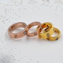 Кольца для влюбленных Обручальное кольцо из титана Картер крест кольца модные ювелирные изделия лучшие друзья высокое качество Промотирование G0123