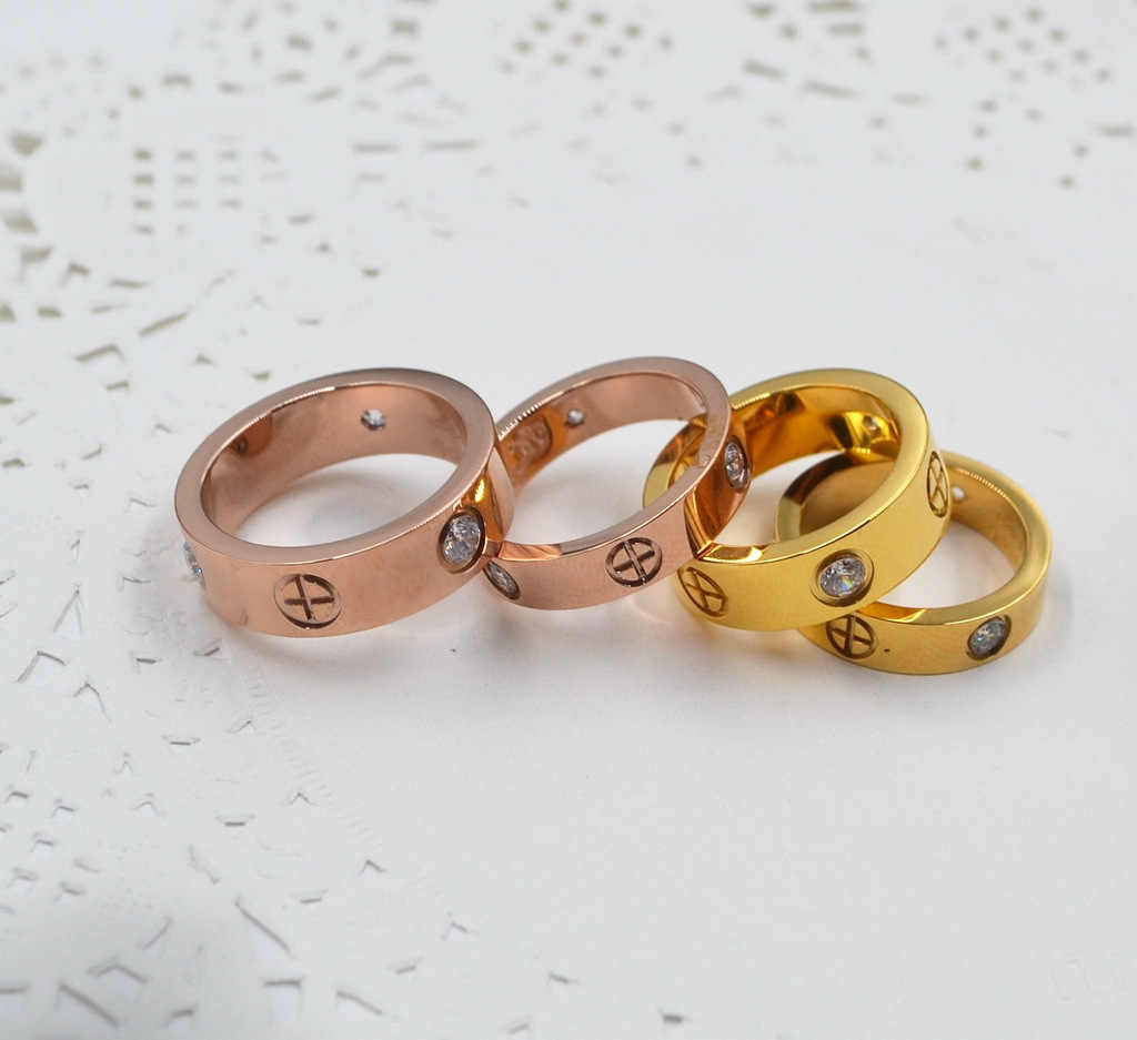 Lovers rings titanium wedding ring Carter Cross rings fashion jewelry best friends High-quality Promotion wholesale G0123