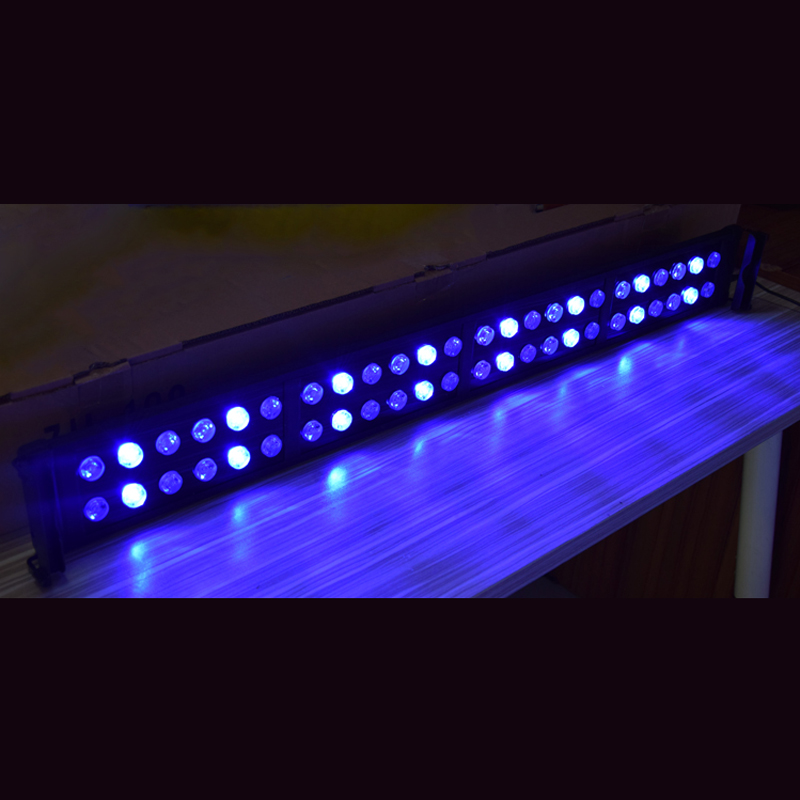 95 115cm 40W Aquarium plant Lighting Fish Tank Light Lamp with Extendable Brackets 32 White 16 Blue LEDs Fits for Aquarium in Lightings from Home Garden